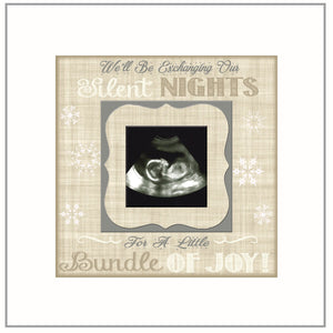 CHRISTMAS PREGNANCY REVEAL idea ~ Sonogram Photo ~ Sonogram Picture Frame ~Baby Reveal Idea to Parents~ Reveal to Family- Neutral Tones - MemoryScapes Personalized and Customized Picture Frame