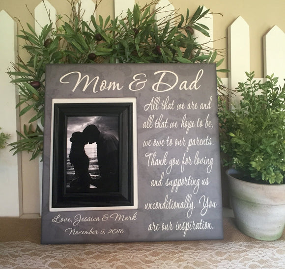 You are Our Inspiration | Thank You Gift for Mother and Father | Wedding Thank You For Parents | Personalized Thank You Gift For Parents - Memory Scapes