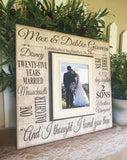 Anniversary Stats Frame ~ 25th Wedding ~ 30th Wedding Present ~ Husband Wife Personalized Frame~ You Are Not Rich...Personalized Photo Frame - MemoryScapes Personalized and Customized Picture Frame