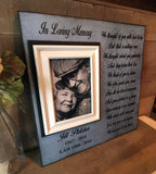 We Thought of You with Love Today Bereavement Gift | MemoryScapes - MemoryScapes Personalized and Customized Picture Frame