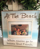 Cousin Best Friends | At the Beach | Beach House Decor | Cousins Frame - MemoryScapes Personalized and Customized Picture Frame
