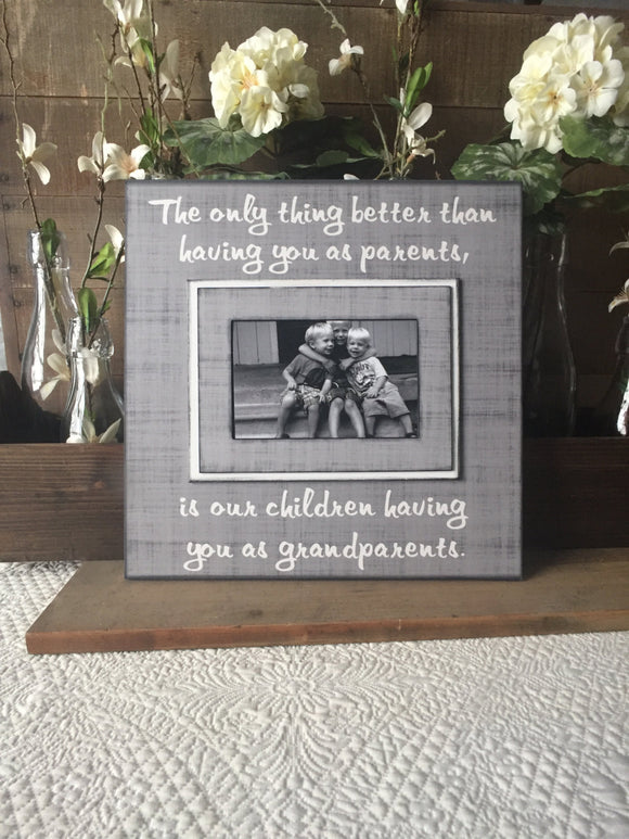 Custom Gift For Grandparents | Grandparents Photo Frame | Grandparents Ideas | Unique Grandparents Gifts | Grandparents Mother's Day - MemoryScapes Personalized and Customized Picture Frame