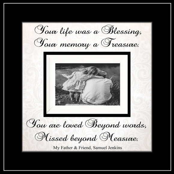 Custom Listing for Amy Allan:Upsizing - MemoryScapes Personalized and Customized Picture Frame