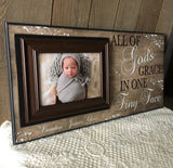 Baby Baptism Gifts For Godparents | Baby Christening Gifts For Godparents| New Baby Picture Frame |Christening Gifts For Godmother | - MemoryScapes Personalized and Customized Picture Frame