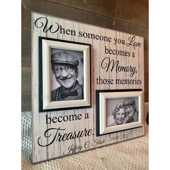 Picture Frame Gift Ideas For Grieving Friend | MemoryScapes - MemoryScapes Personalized and Customized Picture Frame