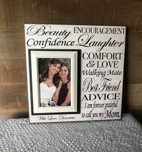 Mother of The Bride Gift Ideas | Mother of The Bride Customized Frame | Mother of the Bride Gift From The Bride | Thank You Wedding Gift - MemoryScapes Personalized and Customized Picture Frame