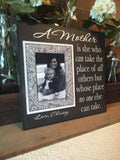Sentimental Gift For Mom | Moving Away Gift | Frame From Daughter | Gift From Daughter | Wedding Photo Picture Frame | Caring Gift For Mom - MemoryScapes Personalized and Customized Picture Frame