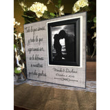 Spanish Parents Wedding Thank You Gift ~ Mother and Father of the Bride ~ Father and Mother of the Groom ~ Personalized Wedding Frame - MemoryScapes Personalized and Customized Picture Frame