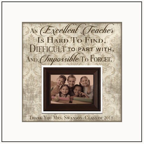 Best Teacher Gifts 2017 | Personalized Teacher Gift From Class | Xmas Gift Ideas For Teachers | Teacher Thank You Gift Ideas | Picture Frame - MemoryScapes Personalized and Customized Picture Frame