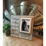 Personalized Wedding Officiant Gift | Officiant Personalized Picture Frame | Priest Thank You Gift Ideas | For Marrying Us | Rustic Wedding - MemoryScapes Personalized and Customized Picture Frame