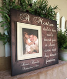 Mother of The Groom Personalized Picture Frame From Groom to Mom | A Mother Hold Her Sons Hand For a Short Time - MemoryScapes Personalized and Customized Picture Frame
