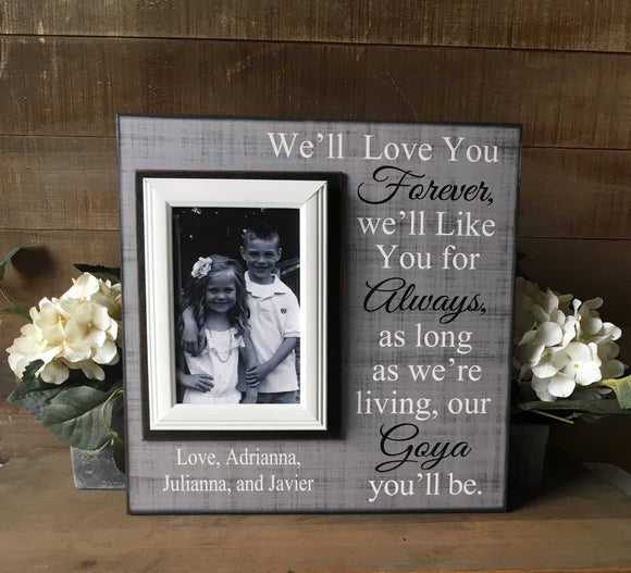 Personalized Frames | Personalized Gifts for Grandmother | Custom Gifts for Grandma | Picture Frame From Grandchildren - MemoryScapes Personalized and Customized Picture Frame