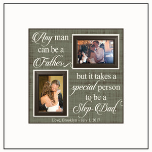 Step Dad Gifts ~ Step Dad Thank You Gift ~ Step Dad Wedding ~ Personalized Step Dad ~ Picture Frame ~ Father of the Bride ~ Step Father - MemoryScapes Personalized and Customized Picture Frame