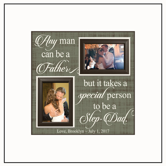 Step Dad Gifts ~ Step Dad Thank You Gift ~ Step Dad Wedding ~ Personalized Step Dad ~ Picture Frame ~ Father of the Bride ~ Step Father - Memory Scapes