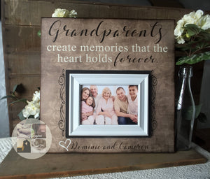 Grandparents Gift for Wall | Grandparents Mother's Day | Personalized Picture Frame for Grandparents | Best Gifts for Grandparents - MemoryScapes Personalized and Customized Picture Frame