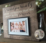 Grandparents Gift for Wall | Grandparents Mother's Day | Personalized Picture Frame for Grandparents | Best Gifts for Grandparents - Memory Scapes