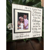 Rustic Personalized Picture Frame For Mom From Kids | MemoryScapes - MemoryScapes Personalized and Customized Picture Frame