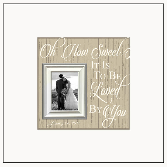 Gift For Her ~ Wedding Photo Picture Frame ~ Groom Bride Gift Exchange Idea ~ Personalized Photo Frame ~ Anniversary Gift Idea - Memory Scapes