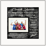 End Of Season Gift | Coach Appreciation Gift | Personalized Volleyball Coach Gift | Custom Picture Frames | Gift For Sports Coach - MemoryScapes Personalized and Customized Picture Frame