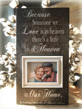 Because Someone We Love is in Heaven Loss Picture Frame | MemoryScapes - MemoryScapes Personalized and Customized Picture Frame