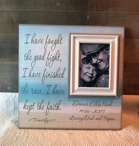 Personalized Memorial Frame | Custom Sympathy Gift Ideas | Memorial Picture Frame | In Memory of Dad | Lost Loved One | Remembrance Gifts - Memory Scapes