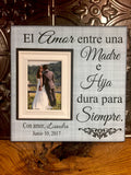 Spanish Mom | Madre Gift | Spanish Wedding Decor | Mexican Wedding Ideas | Spanish Wedding Invites | Regalo De Boda | Espanol - MemoryScapes Personalized and Customized Picture Frame