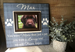 Memorial Pet Frames | Dog Memorial Frame | Dog Loss Sympathy | Pet Memorial Photo Frames | Pet Loss Gift | More Than Just a Pet | Pet Loss - MemoryScapes Personalized and Customized Picture Frame