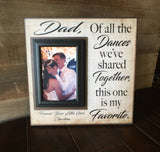 Father Daughter Dance ~ Thank You Gift From Bride ~Personalized Wedding Frame ~ Rustic Picture Frame ~ This One is My Favorite ~ - Memory Scapes