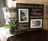 Those Memories Become a Treasure | Loss of Husband Frame Condolence Gift Idea | MemoryScapes - MemoryScapes Personalized and Customized Picture Frame