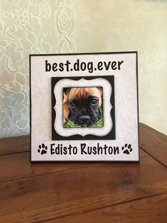 Picture Frame for Dog Picture | Custom Dog Portraits | Pet Gift | Dog Love Gifts for Him | Custom Pet Portrait | English Bulldog Frame - MemoryScapes Personalized and Customized Picture Frame