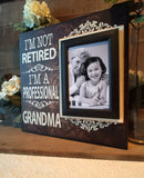 Retirement Gifts for Women | Coworker Retirement Gifts |  Retired Grandmother | Picture Frame For Grandma | Personalized Grandmother Gift - MemoryScapes Personalized and Customized Picture Frame