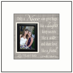 Gift For Niece | Personalized Gift for Niece | To Niece From Aunt | Birthday Gift for Niece | Wedding Gift for Niece | Niece Gift - MemoryScapes Personalized and Customized Picture Frame