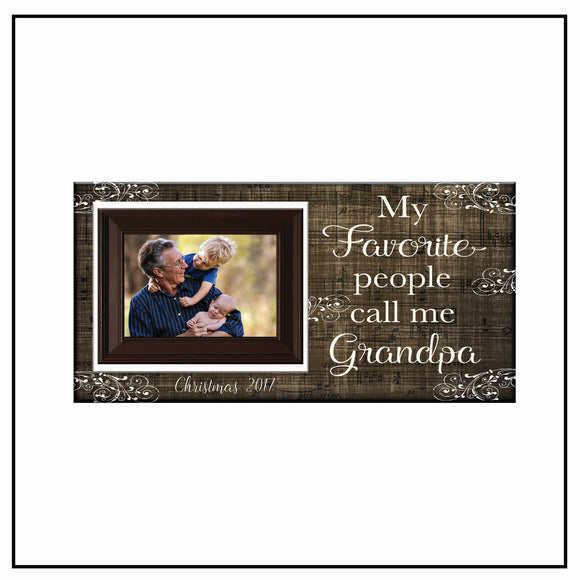 Grandfather Father's Day Gifts | Grandparents Gifts | Grandfather Birthday Gift Ideas | Grandpa Gifts | Gift for Grandfather - MemoryScapes Personalized and Customized Picture Frame
