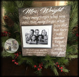 Personalized Teacher Frame | Teacher Gift Idea | Teacher Retirement | Teacher Appreciation | Teacher Gift From Class | End of Year | #1 - MemoryScapes Personalized and Customized Picture Frame
