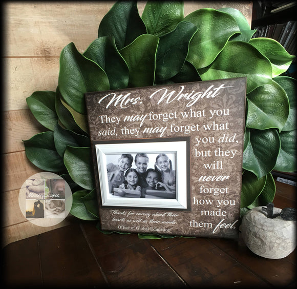 Personalized Teacher Frame | Teacher Gift Idea | Teacher Retirement | Teacher Appreciation | Teacher Gift From Class | End of Year | #1 - Memory Scapes