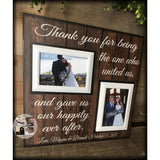 Gift To Wedding Officiant | Personalized Wedding Officiant Gift | Farmhouse Style Wedding | Thank You Officiant | Wedding Officiant Frame - Memory Scapes