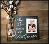 New Grandparent | Unique Gift For Grandparents | First Grandchild Frame | Grandma Gifts | Grandmother Art Gift | New Baby | New Grandma - MemoryScapes Personalized and Customized Picture Frame