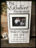 Housewarming Gift | Family Name Sign | New Home | French Country | Personalized Picture Frame | Rustic Decor | Farmhouse Style | Wood Signs - MemoryScapes Personalized and Customized Picture Frame