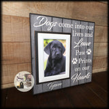 Personalized Dog Picture Frame Paw Prints on My Heart | MemoryScapes - MemoryScapes Personalized and Customized Picture Frame