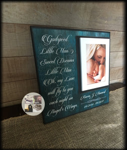 Memorial Gift for Loss of Son / Parent Loss of Child | MemoryScapes - MemoryScapes Personalized and Customized Picture Frame