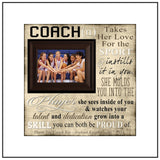 Basketball Coach Gift , Female Coach Gift , Custom Coach Picture Frame , Coach Thank You , End Of Season Gift , Personalized Team Frame - MemoryScapes Personalized and Customized Picture Frame