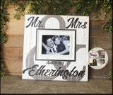 Bridal Shower Gift | Wedding Gift | Personalized Wedding Gift | Mr and Mrs Sign | Personalized Picture Frame | Couples Gift | Future Mrs - MemoryScapes Personalized and Customized Picture Frame