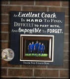 End of Season Coach Gift | Coach Appreciation Gift | Custom Coach Picture Frame | Coach Thank You | Personalized Team Frame - Memory Scapes