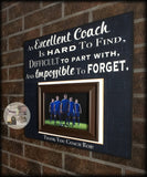 End of Season Coach Gift | Coach Appreciation Gift | Custom Coach Picture Frame | Coach Thank You | Personalized Team Frame - MemoryScapes Personalized and Customized Picture Frame