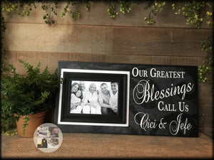 Personalized Picture Frame For Grandparents | Mother's Day Present Ideas | Grandparents Wall Sign | Grandmother Gift For Home - MemoryScapes Personalized and Customized Picture Frame