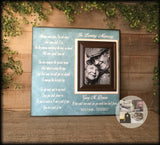 Personalized Condolence Gift | Loss of Husband | Funeral Gift Ideas Condolences | In Loving Memory of Husband | Remembrance Picture Frame - MemoryScapes Personalized and Customized Picture Frame