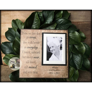 Those We Love Don't Go Away Unique Sympathy Gift | MemoryScapes - MemoryScapes Personalized and Customized Picture Frame