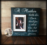 Mother's Day Gift From Son | Mother of the Groom Frame | Gift from Groom to Mom | A Mother Hold Her Sons Hand | Personalized Mom Frame - MemoryScapes Personalized and Customized Picture Frame