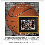 Basketball Coach Gift , Coach Appreciation , Custom Coach Picture Frame , Coach Thank You , End Of Season Gift , Personalized Team Frame - MemoryScapes Personalized and Customized Picture Frame