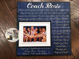 Custom Quote Print , Coach Appreciation , Personalized Picture Frame , Coach Thank You , End Of Season Gift , Personalized Team Frame - MemoryScapes Personalized and Customized Picture Frame